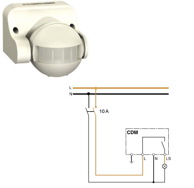 Схема на детектор на движение (фотоклетка)