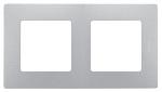 Декоративна рамка двойна, цвят алуминий