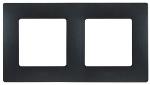 Декоративна рамка двойна, цвят черен