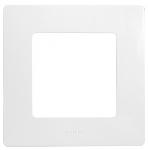 Декоративна рамка единична, цвят бял