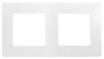 Декоративна рамка двойна, цвят бял
