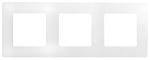 Декоративна рамка тройна, цвят бял