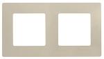 Декоративна рамка двойна, цвят крем