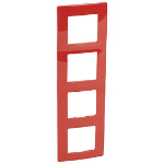 Декоративна рамка четворна, цвят червен