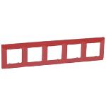 Декоративна рамка петорна, цвят червен