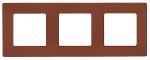 Декоративна рамка тройна, цвят кафе