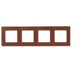 Декоративна рамка четворна, цвят кафе