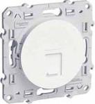 Интернет розетка шнайдер серия Odace, механизъм, 1X RJ45, бяла