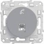 Телефонна розетка шнайдер серия Odace, механизъм, 1X RJ12, алуминий