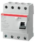 Дефектнотоковa защитa ABB FH204 АС-25/0.03 25A 30mA 4P
