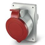Трифазен евро контакт за табло 16А 3P+Е, 6h IP44  пров. до 4х4мм2
