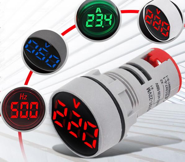 Волтметър цифров червен,  AC Voltmeter AC20-500V