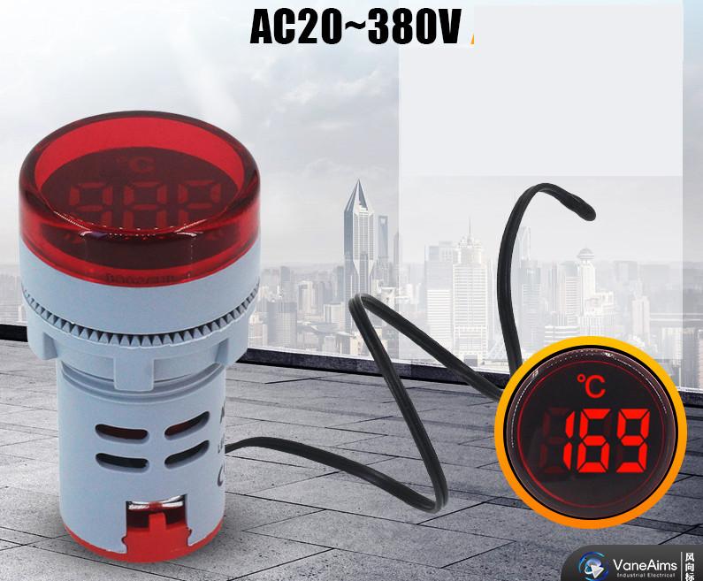 Термометър цифров червен,  Temperature -20/199C AC50-380V