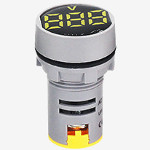 Волтметър цифров жълт,  AC Voltmeter AC24-500V