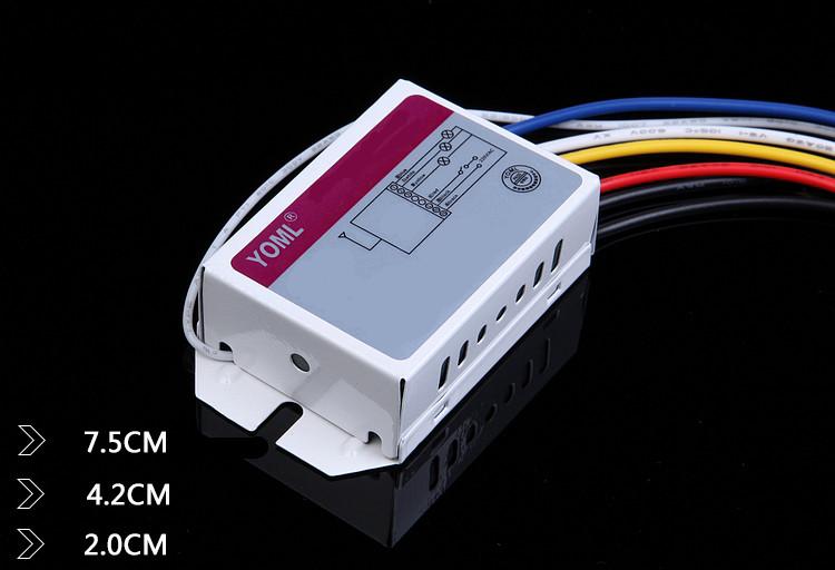 Ключ за осветление троен, може да се работи с до три броя дистанционни