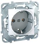 Механизъм контактен излаз Шуко 16А 250 V, бял