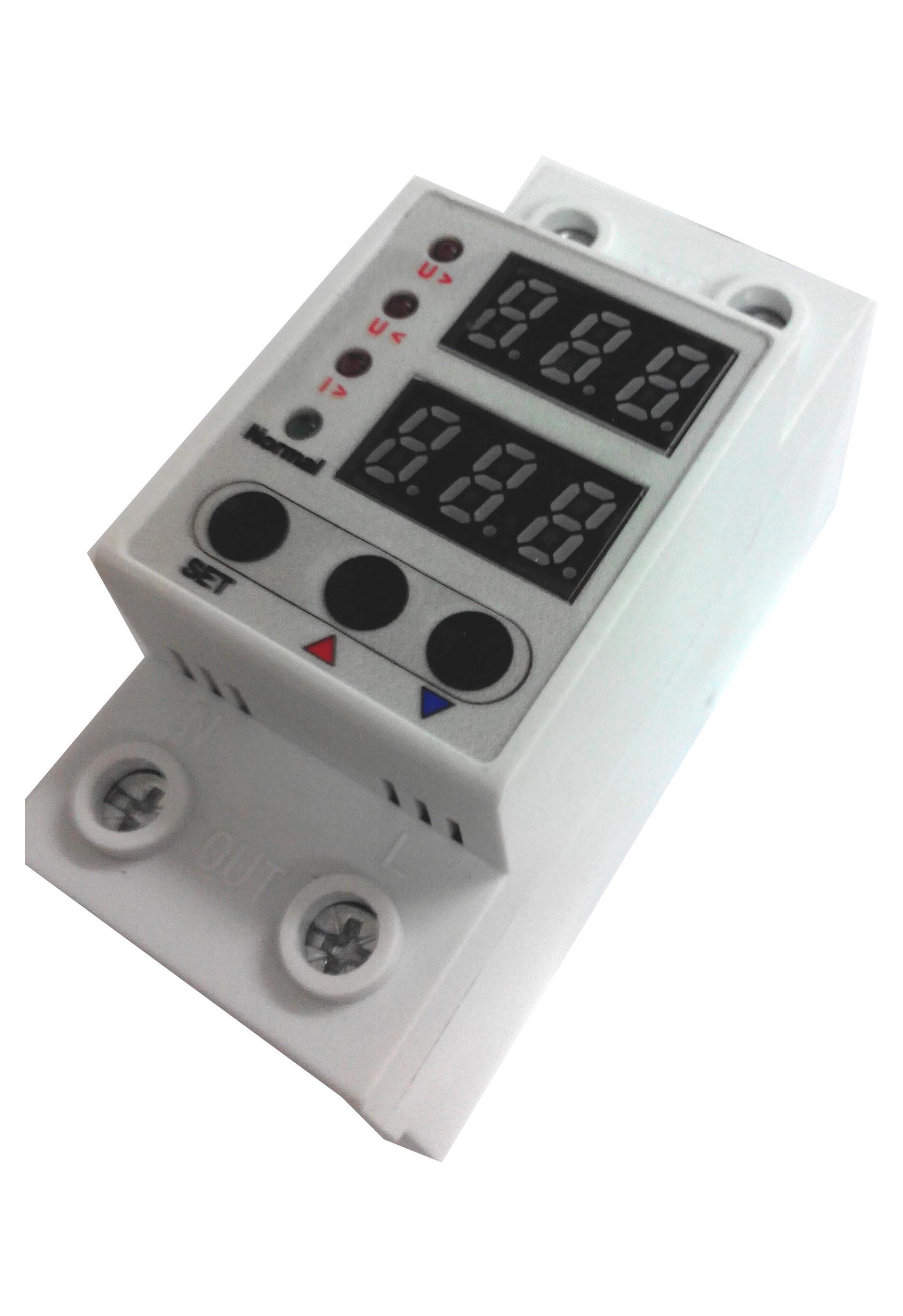 Реле 63A за контрол на напрежение и ток. Напреженова защита.